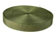 2.5cm 25 Yards Olive Drab Green Lite Weight Nylon Webbing