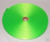 1.9cm 50 Yards Hot Lime Green Nylon Heavy Webbing