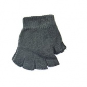 Fingerless Glove-charcoal Grey Grey