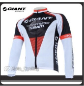 2011 the hot new model WHITE GIANT Long-sleeved jersey /Perspiration breathable cycling clothing