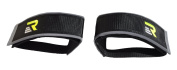 Retrospec Fixed-Gear Track BMX-Style Foot Retention FGFS hook and loop Straps with Reflective Fabric, Black