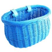 Sunlite Willow Bushel Strap-On Front Basket - Blue