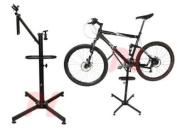 BICYCLE REPAIR STAND Bike Adjustable Heights 360º Rotation w/ Lock & Tool Tray