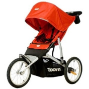 Joovy Zoom ATS Fixed Wheel Jogging Stroller, Red with Mini Tool Box