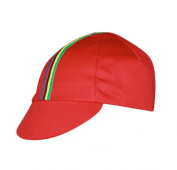 Pace Sportswear World Champ cycling cap, red - one size