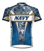 Primal Wear Navy Eleven Camo Cycling jersey Men's Short Sleeve 4XL