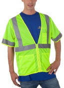 Liberty HiVizGard Polyester All Mesh Fabric Class 3 Safety Vest with 5.1cm Wide Silver Reflective Stripes and Multiple Pockets, 3X-Large, Fluorescent Lime Green