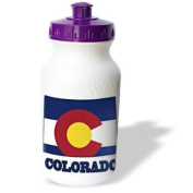 777images Flags and Maps - States - Colorado state flag in the outline map and letters of Colorado - Water Bottles