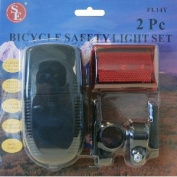 SE FL14Y Bicycle and Tail Light Set with 11cm by 5.1cm Tail, 2-Piece