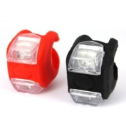 Pair Red and Black Bicycle Water Resistant Safety LED Lamp LED Light Taillight