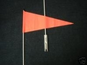 Bicycle Safety Flag Orange Pennet with Axel Bracket Mount