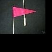 Bicycle Safety Flag Pink Pennet with Axle Bracket Mount