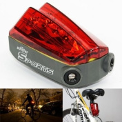 4 Modes 5 LED Waterproof Bike Safety Laser Tail Light with Parallel Beam