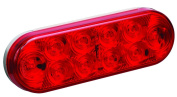 Wesbar LED 15cm Oval Tail Light, Grommet Mount, 10-Diode, Red