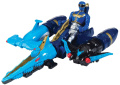Power Rangers Sea Brothers Zord Vehicle and Blue Ranger Action Figure Play Set