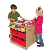 Guidecraft Desk to Easel Art Cart, Natural