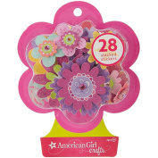 American Girl Crafts Stacked Stickers - Fancy Flowers