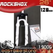 "1.5"" - RockShox Recon Silver R Solo Air Suspension 120mm White - 2012"