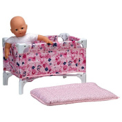 Corolle Les Classiques Nursery Floral Doll Bed and Changing Table