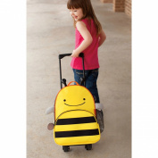 Skip Hop Zoo Little Kid Rolling Luggage - Bee