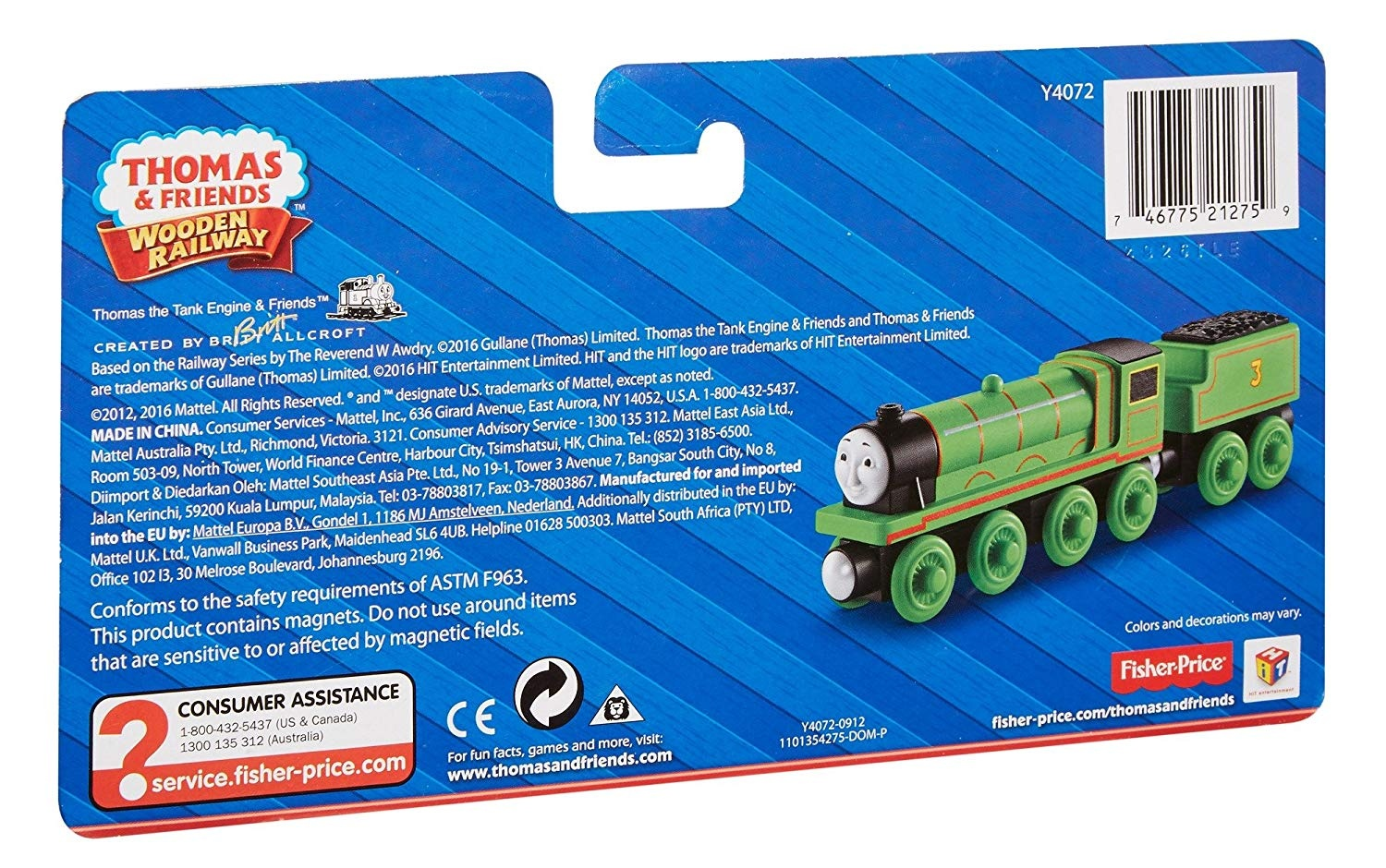 Fisher Price Thomas Friends Wooden Railway Edward The Blue Engine