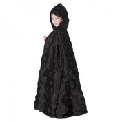 Pintuck Cape Halloween Costume - Black - Child Size