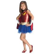 Rubies Costume Co R881629-M Girls Wonder Woman Tutu Costume MEDIUM