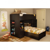 South Shore Twin-over-Twin Loft Bed Kit - Chocolate