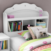South Shore Tiara Twin Bookcase Headboard - Pure White