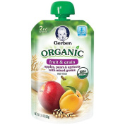 Gerber Organic 2nd Foods Pouches Apple Pear Apricot Grains - 100ml
