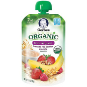 Gerber Organic 2nd Foods Pouches Banana Red Berry Granola - 100ml