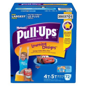 Pull-Ups Potty Training Pants with Learning Designs for Boys 4T-5T - 72CT