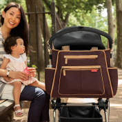 Skip Hop Grand Central Take-It-All Diaper Bag Chocolate