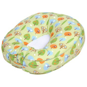 Leachco Podster Sling-Style Baby Lounger in Green Forest Frolics