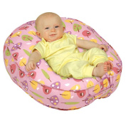 Leachco Podster Sling-Style Baby Lounger in Pink Forest Frolics