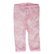 Baby Bella Maya Girls Lacy Leggings - Pink