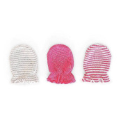 Girls 3 Pk Scratch Free Mittens