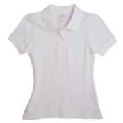 French Toast Short Sleeve Stretch Pique Polo - White