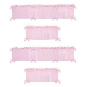 Sweet Jojo Designs Chenille Pink Collection Crib Bumper
