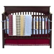 Bacati Boys Stripes and Plaids 4pc Crib Bedding Set