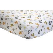 NoJo by Jill McDonald - Amazing Animals Crib Sheet