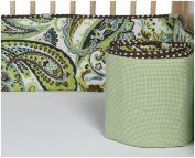 Paisley Splash Crib Bumper - Lime
