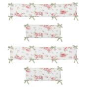 Sweet Jojo Designs Riley's Roses Collection Crib Bumper