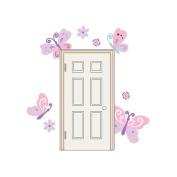 Butterfly Door Wall Decals