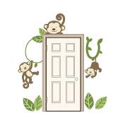 Monkey Door Wall Decals