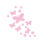BabyShop Butterfly and Flowers Flocked Wall Decal