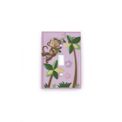 BabyShop By Design Girl Monkey Switch Plate Cover