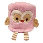 BabyShop Dimensional Rolled Fleece Blanket - Pink Owl