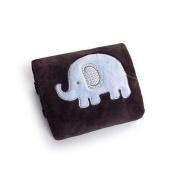 Carter's Everyday Easy Boa Blanket - Brown/Blue Elephant