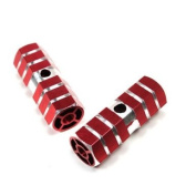Red Axle Foot Pegs For Bicycle Bike